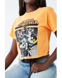 9867f50a26619c Lyst - Forever 21 Naruto Shippuden Graphic Tee in White