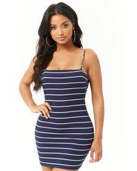 Forever 21 - Cutout Striped Mini Dress - Lyst