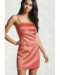 Forever 21 - Contemporary Satin Dress - Lyst