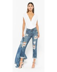 Forever 21 - Distressed Straight-leg Jeans - Lyst
