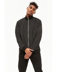 Forever 21 - Pinstriped Funnel Neck Jacket - Lyst