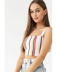 11f9c421b5c96c Forever 21 - Striped Print Crop Top - Lyst
