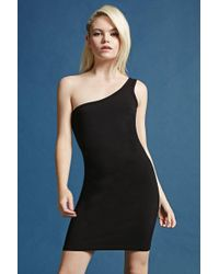 Forever 21 - One-shoulder Bodycon Dress - Lyst