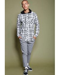 Forever 21 - 's Hooded Flannel Shirt - Lyst