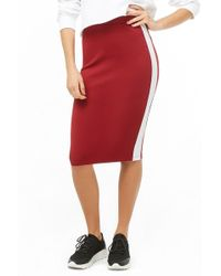 ea4983fc11 Forever 21 Double-layered Pencil Skirt in White - Lyst