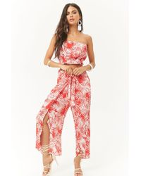 Forever 21 - Palm Leaf Tube Top & Pant Set - Lyst