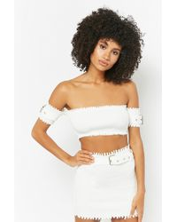 Forever 21 - Ribbed Crop Top & Skirt Set - Lyst