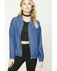 Forever 21 - Contemporary Chambray Jacket - Lyst