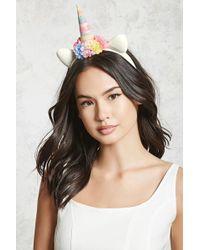 Forever 21 - Floral Unicorn Headband - Lyst