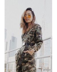 Forever 21 - City Of Angels Camo Jumpsuit - Lyst