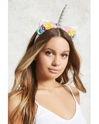 Forever 21 - Unicorn Floral Headband - Lyst