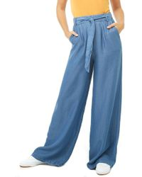 Forever 21 - Chambray Wide-leg Pants - Lyst