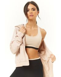 Forever 21 - Active Hooded Zippered Jacket - Lyst