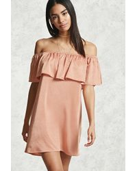 Forever 21 - Off-the-shoulder Flounce Dress - Lyst
