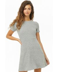 8c42c77e78 Forever 21 - Women s Heathered Fit   Flare Dress - Lyst