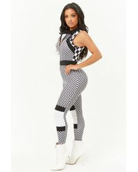 Forever 21 - Checkered Print Jumpsuit - Lyst