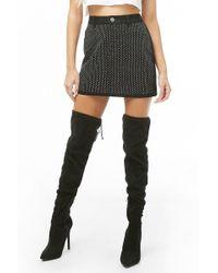Forever 21 - Embellished Denim Mini Skirt - Lyst