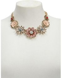 Forever 21 - Rhinestone Floral Statement Necklace - Lyst