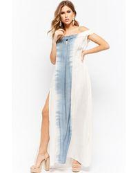 Forever 21 - Women's Boho Me Off-the-shoulder Tie-dye Maxi Dress - Lyst