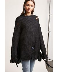 Lyst - Forever 21 Chunky Knit Oversized Sweater in Brown 3f2c1f47d