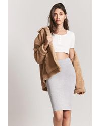 Forever 21 - Stretch-knit Pencil Skirt - Lyst