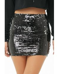 Forever 21 - Sequin Mini Skirt - Lyst