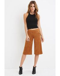 Forever 21   Faux Suede Culottes   Lyst