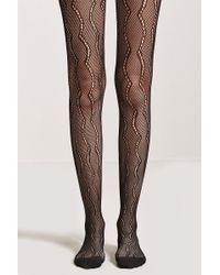 Forever 21 - Sheer Scalloped Tights - Lyst