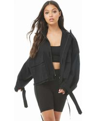 Forever 21 - Cropped Utility Jacket - Lyst