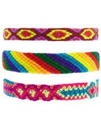 Forever 21 - Woven Slip & Pull Bracelet Set - Lyst