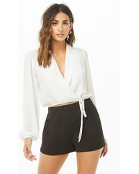 Forever 21 - Pleated Side-zip Shorts - Lyst