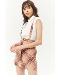 Forever 21 - Plaid Overall Skirt - Lyst