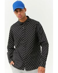 Forever 21 - 's Diagonal Striped Slim-fit Shirt - Lyst