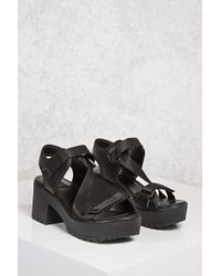 Forever 21 | Perforated Platform Sandals | Lyst