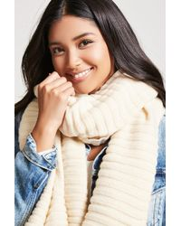 Forever 21 | Ribbed Knit Oblong Scarf | Lyst