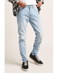 Forever 21 | Distressed Skinny Jeans | Lyst