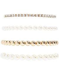 Forever 21 - Women's Beaded Stretch Bracelet Set - Lyst