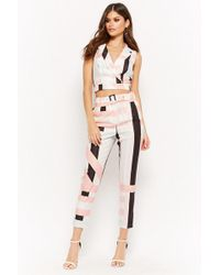 Forever 21 - Multi-striped Crop Top & Pants Set - Lyst