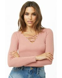 Forever 21 - Caged Sweater-knit Top - Lyst