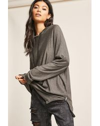 Forever 21 | Hooded Dolman-sleeve Top | Lyst