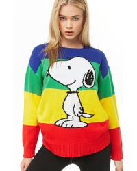 Forever 21 - Snoopy Graphic Rainbow Sweater - Lyst