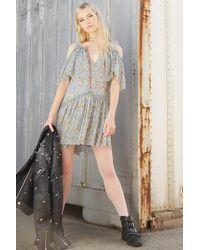 Forever 21 - Open-shoulder Floral Dress - Lyst