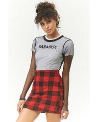 Forever 21 - Buffalo Plaid Mini Skirt - Lyst