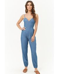 Forever 21 - Chambray Cami Jumpsuit - Lyst
