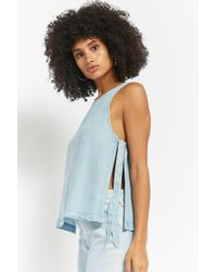 Forever 21 - Chambray Self-tie Top - Lyst