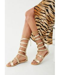 Forever 21 Lace-up Gladiator Sandals , Gold