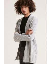 Forever 21 - Draped Open-front Cardigan - Lyst