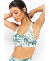 Forever 21 - Medium Impact - Palm Leaf Print Sports Bra - Lyst