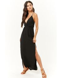 a47a1055f08 Lyst - Forever 21 One-shoulder Maxi Dress in Black