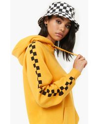Forever 21 - Chequered Fleece Hoodie - Lyst